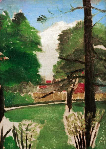 H.Rousseau, View of Park Montsouris