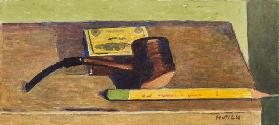 Pencil and Pipe, c.1930 (pencil & w/c on paper)