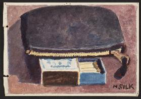 Purse and matches, c.1930 (pencil & w/c on paper)