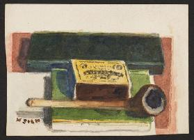 Matches and pipe, c.1930 (pencil & w/c on paper)