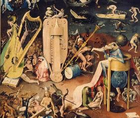 The Garden of Earthly Delights: Hell, detail from the right wing of the triptych