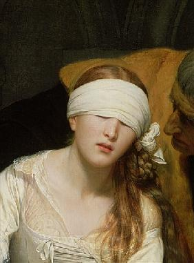 The Execution of Lady Jane Grey, 1833 (detail of 72630)