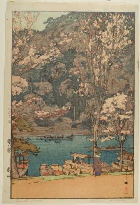 "Arashiyama, from the series ""Eight Scenes of Cherry Blossoms"""