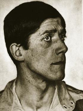 Oskar Kokoschka (sepia photo)