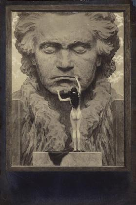 Ludwig van Beethoven, German composer and pianist (1770-1827) (engraving)