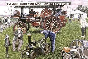 Traction Engines at the Show, 1993 (gouache on card)