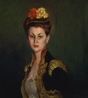 Portrait of a Lady with Bullfighter's Jacket