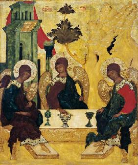 The St. three agreement in the form of the three juvenile angels in the house of Abraham.