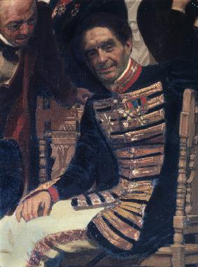 The composer Count Alexei Lvov (1799-1870) (Detail of the painting Slavonic composers)