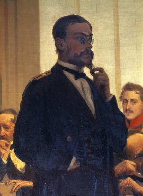 The composer Nikolay Rimsky-Korsakov (Detail of the painting Slavonic composers)