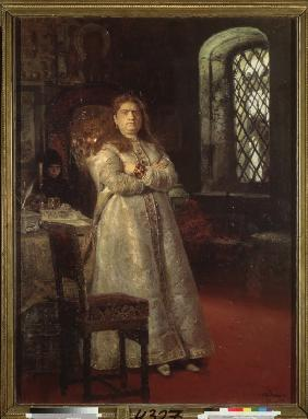Tsarevna Sofia at the Novodevichy Convent during the Strelets execution and the torturing of her ser