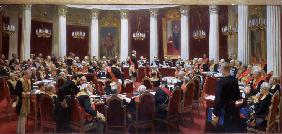 The centenary session of the State Council in the Marie Palace on May 5, 1901