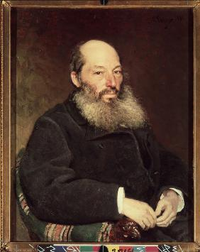 Portrait of the poet Afanasy Fet (1820-1892)