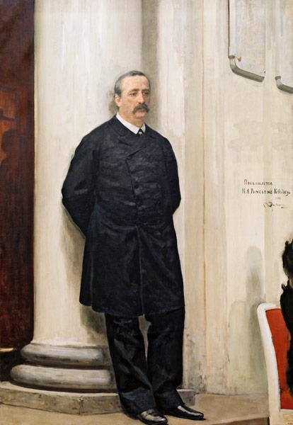 Portrait of the composer and chemist Alexander Borodin (1833-1887)