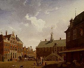 The market place of Hoorn