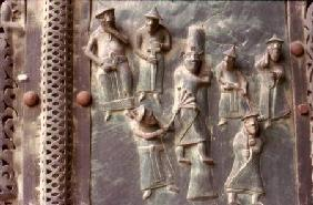 Relief scene of the Flagellation of Christ
