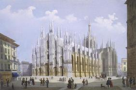 Milan Cathedral from 'Views of Milan and its Environs' (colour litho)