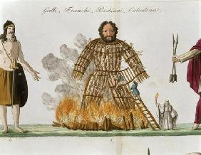 The Wicker Man, from 'The History of the Nations' (litho)