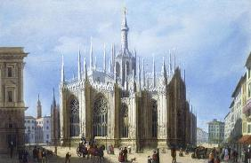 View of the back of Milan Cathedral from 'Views of Milan and its Environs' (colour litho)