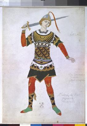 Costume design for the ballet The Firebird (L'oiseau de feu) by I. Stravinsky