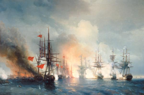 Russian-Turkish Sea Battle of Sinop on 18th November 1853