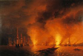 The naval Battle of Sinop on 30 November 1853