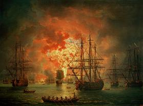 The Destruction of the Turkish Fleet at the Bay of Chesma