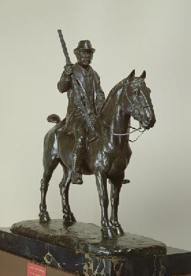 The Duke of Aumale on horseback (bronze)