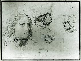 Sketches of Napoleon Bonaparte, 1797 (pencil)