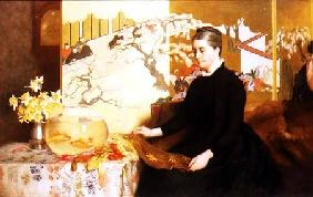 Lady With Japanese Screen and Goldfish (Portrait of the Artist's Mother)