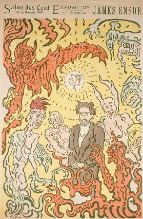 Demons Teasing Me (Démons me turlupinant). Poster for the James Ensor Exhibition at the Salon des Ce