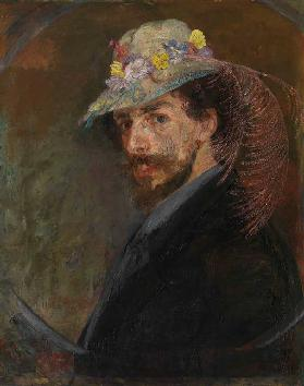 Self-Portrait with Flowered Hat