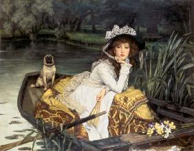 Young Woman in a Boat, or Reflections