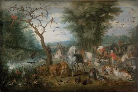 Paradise Landscape with Animals