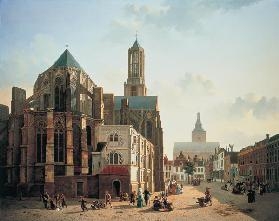 View of the choir and tower of Utrecht Cathedral