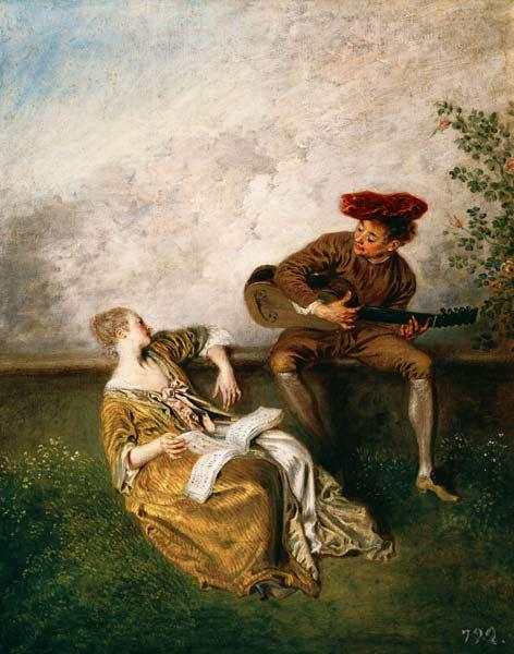 Watteau / The Singing Lesson / c.1717/8