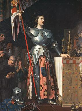 Joan of Arc (1412-31) at the Coronation of King Charles VII (1403-61) 17th July 1429