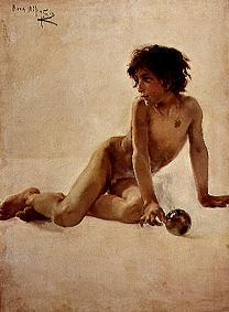 Portrait of a naked boy (Akademia)