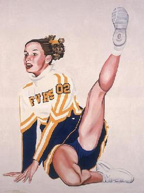 Floor Routine, 2002 (oil & acrylic on canvas)