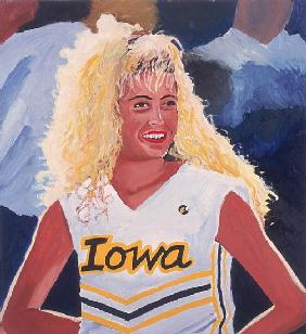 Iowa Cheerleader, 2001 (oil on panel)
