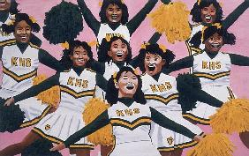 Kiamuki High School Cheerleaders, 2002 (oil on panel)