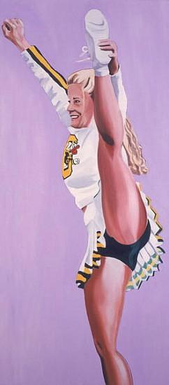 Oregon Ducks Cheerleader, 2002 (oil on canvas)