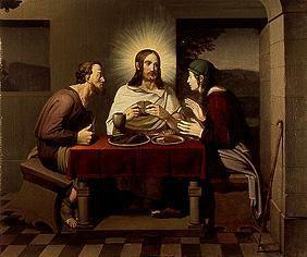 Christ and the disciples in Emmaus.