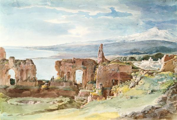 The Greek theatre in Taormina.