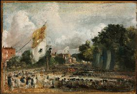 Celebration of the General Peace of 1814 in East Bergholt, 1814