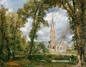 The cathedral seen by Salisbury from the garden of the bishop