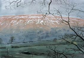 Rise Hill in December, 1991 (gouache)