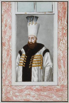 Ahmed III (1673-1736) Sultan 1703-30, from 'A Series of Portraits of the Emperors of Turkey'