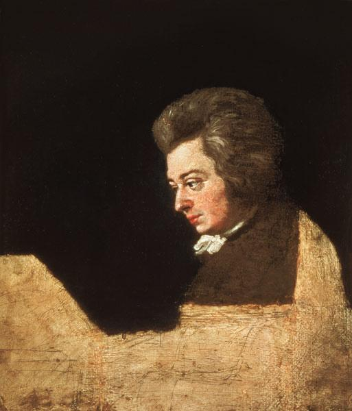 Portrait of Wolfgang Amadeus Mozart (1756-91) at the Piano