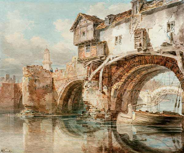 W.Turner, Old Welsh Bridge in Shrewsbury